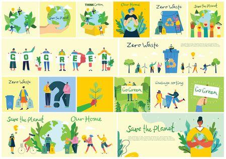 Save the planet. Ilustración de vector