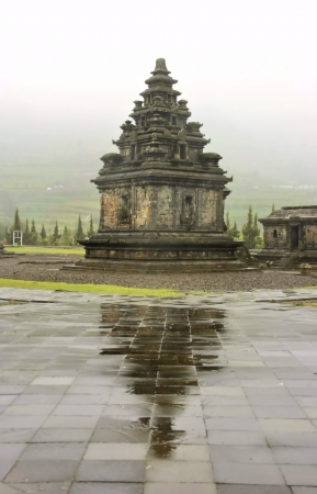 The Arjuna Temple at Dieng Temple Complex in Dieng Plateau, Wonosobo, Central Java, Indonesia  The temple built in 8th century  Stock Photo