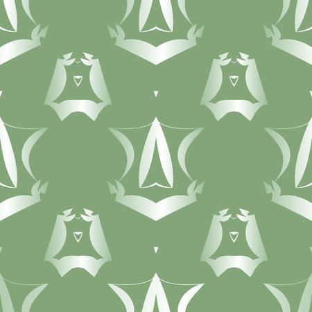 grey pattern: Abstract seamless grey pattern on green background