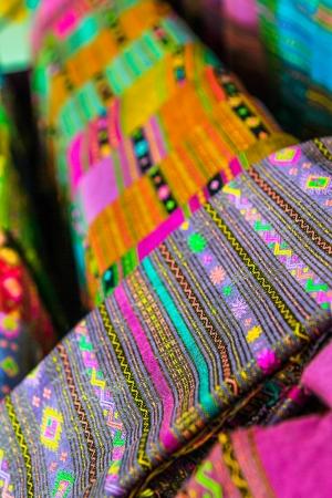 Close-up of Thai traditional handmade silk  KhuBua   Stock Photo