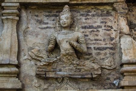 Art on Stupa at Wat-chedyod Temple, Thailand  Stock Photo