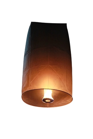 Floating lantern  In Thai, these lanterns are known as Khom Loi  Stock Photo