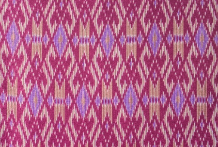 Thai art pattern on fabric