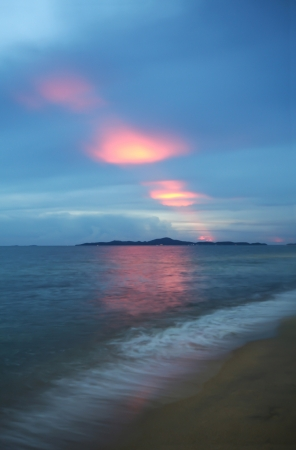 Sunset in Pattaya Beach, Thailand  Stock Photo