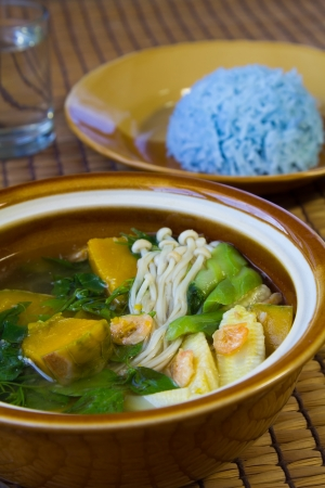 Thai Spicy Mixed Vegetable Soup