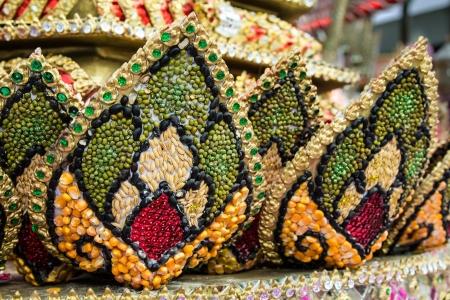Part of Krathong made from seeds, Thai art