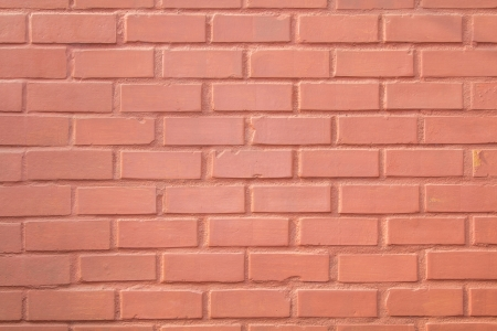Closeup of orange brick wall  Useful as textured or background