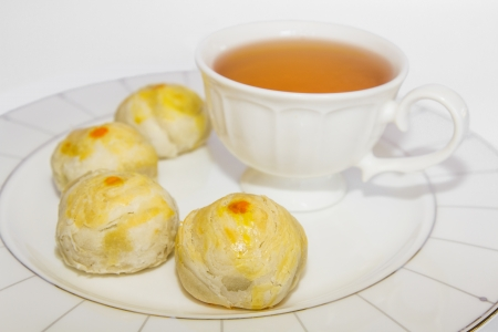 Tea Break with Chinese Pastry photo