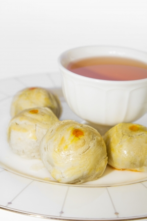 Tea and Chinese Pastry Stock Photo