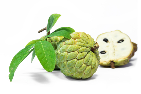 Custard apple or Annona squamosa ,fragrant and sweet fruit. Stock Photo