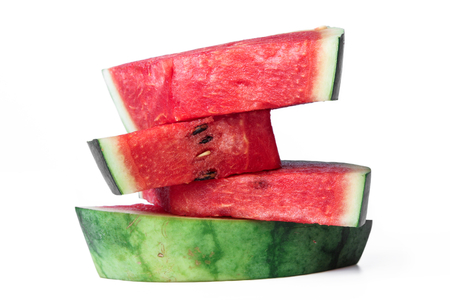 Stack of watermelon slices.