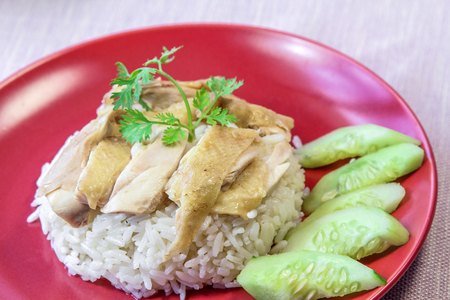food staple: Steamed chicken with rice - Food Staple, Hainanese, Singapore.