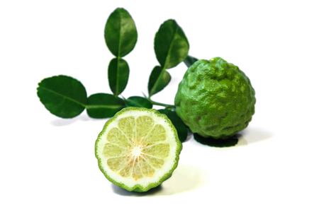 Kaffir lime or Bergamot citrus fruit