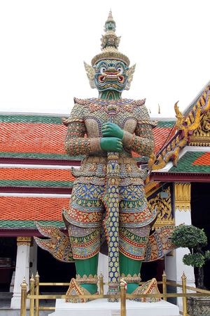 Giant statue at Wat pra kaew,Temple, The grand palace, Thai culture.