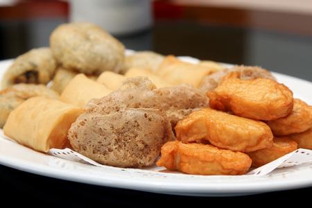 Deep Fried set, Dim Sum, Chinese cuisine.
