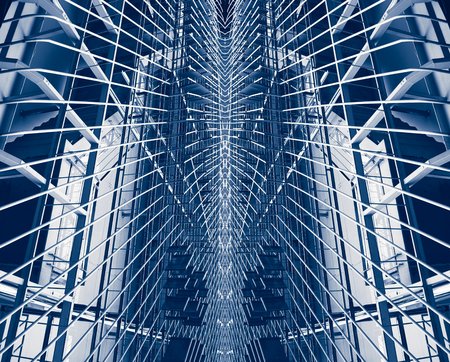 Background, manipulated from building structure to be new age and modern building.