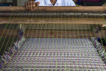 handmade woven reed, mat, texture.