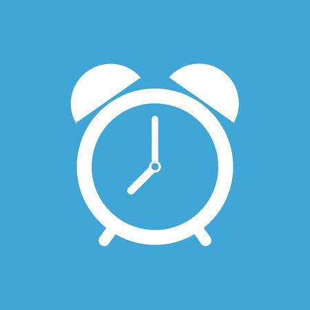 morning: Alarm clock icon, modern minimal flat design style. Vector illustration, symbol Illustration