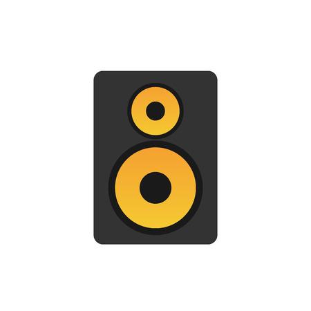 speaker system: Audio speaker icon, modern minimal flat design style, vector illustration Illustration