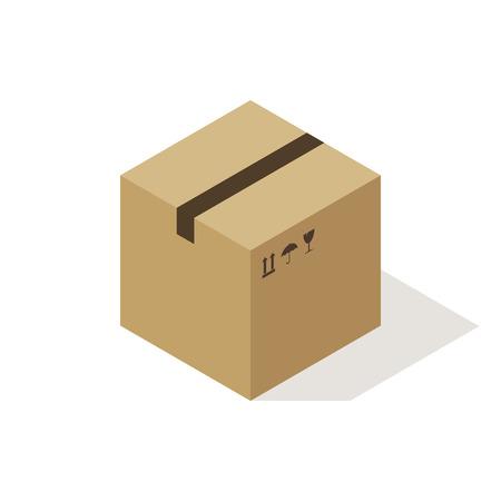 box: Isometric cardboard box icon