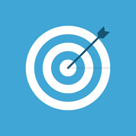 focus on the goal: Target icon, modern minimal flat design style. Aim vector illustration, dartboard symbol