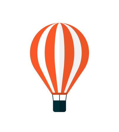 Hot air balloon icon, modern minimal flat design style, vector illustration isolated on white