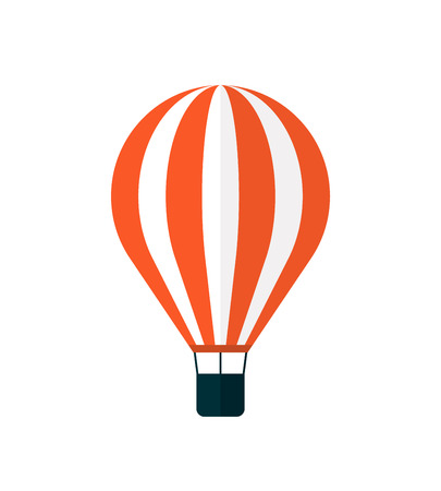 Hot air balloon icon, modern minimal flat design style, vector illustration isolated on white
