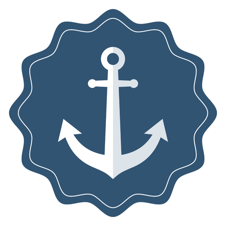 Anchor icon, modern minimal flat design style. Vector illustration, badge 矢量图像
