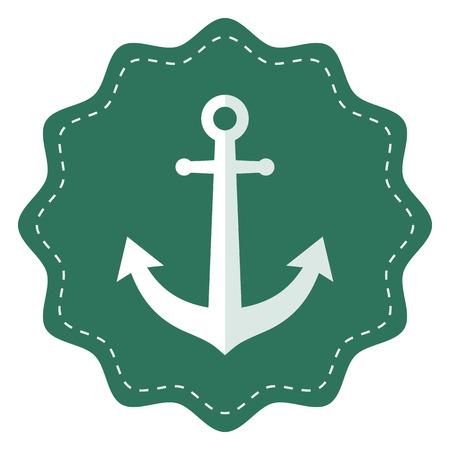 sailing ships: Anchor icon, modern minimal flat design style. Vector illustration, badge Illustration