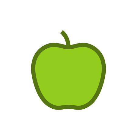 Apple outline color icon, modern minimal flat design style, vector illustration