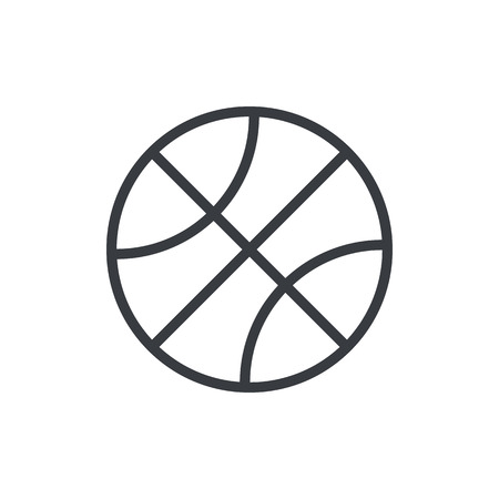 Basketball ball outline icon, modern minimal flat design style. Vector illustration, line symbol 矢量图像