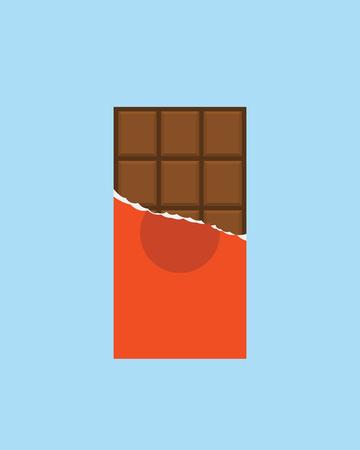 barra: Icono de la barra de chocolate, estilo minimalista moderno dise�o plano, ilustraci�n vectorial