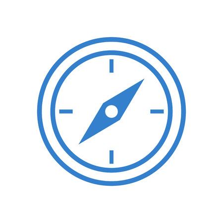 rose wind: Compass outline icon, modern minimal flat design style, vector illustration