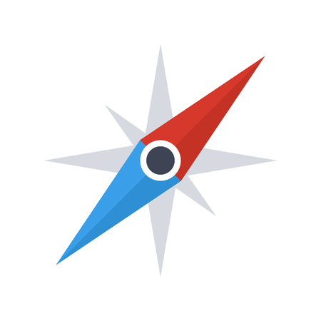 kompas: Kompasu ikona jehla, moderní minimální plochý design styl, vektorové ilustrace