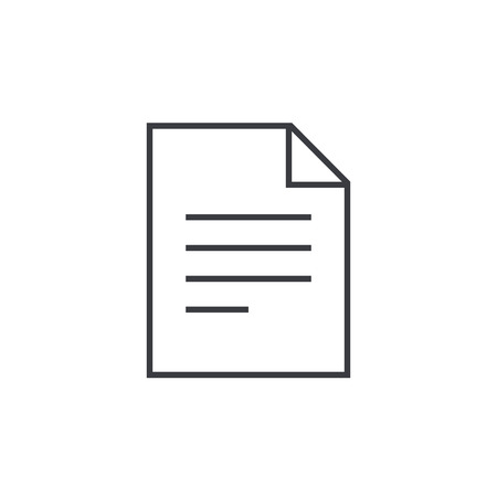 docs: Document outline icon, modern minimal flat design style. Text file vector illustration, thin line symbol
