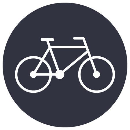 bike vector: Icono de contorno de bicicletas, estilo de dise�o plano minimalista moderno, ilustraci�n vectorial moto Vectores