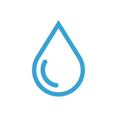 drop of water: Water drop outline icon, modern minimal flat design style, vector illustration