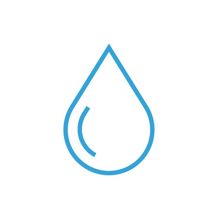 Water drop thin line icon, modern minimal flat design style, vector illustration
