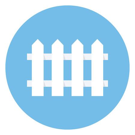 paling: Fence icon, modern minimal flat design style, vector illustration