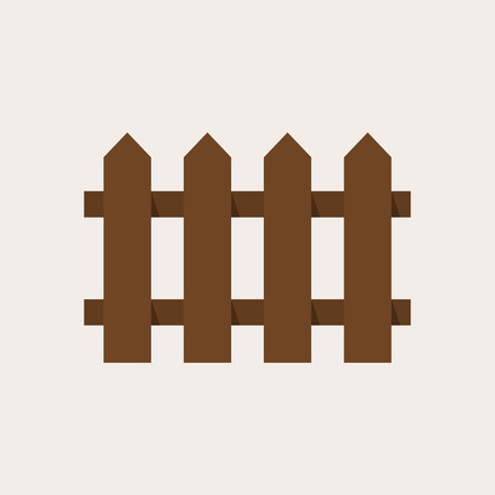fence: Fence icon, modern minimal flat design style, vector illustration