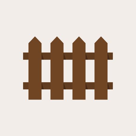 Ikona ogrodzenia, nowoczesne minimal płaskim styl, ilustracji wektorowych