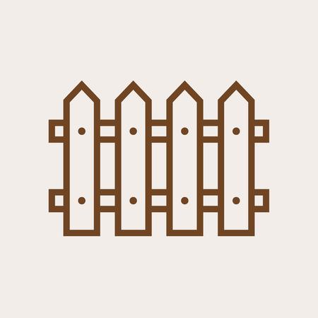 fence: Fence outline icon, modern minimal flat design style, vector illustration Illustration