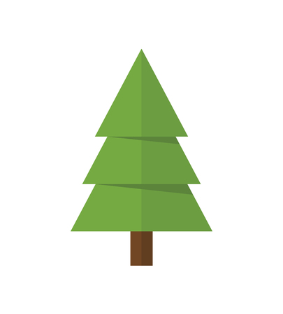 Fir tree icon, modern minimal flat design style. Spruce vector illustration, pine symbol