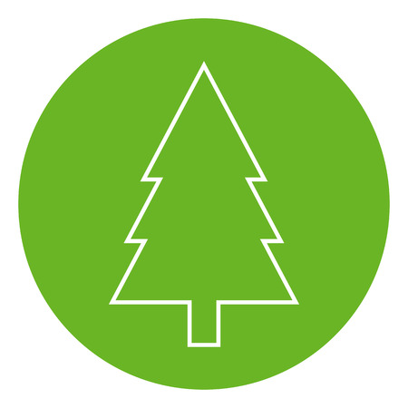 Fir tree outline icon, modern minimal flat design style. Spruce vector illustration, pine thin line symbol