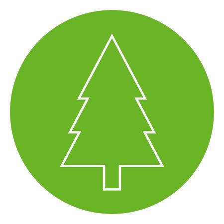 Fir tree outline icon, modern minimal flat design style. Spruce vector illustration, pine thin line symbol