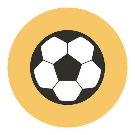 yellow ball: Football soccer ball icon, modern minimal flat design style, vector illustration Illustration