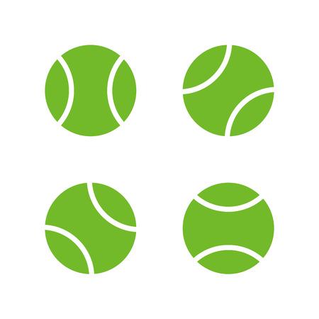 Tennis ball icons, modern minimal flat design style. Vector illustration, icon set