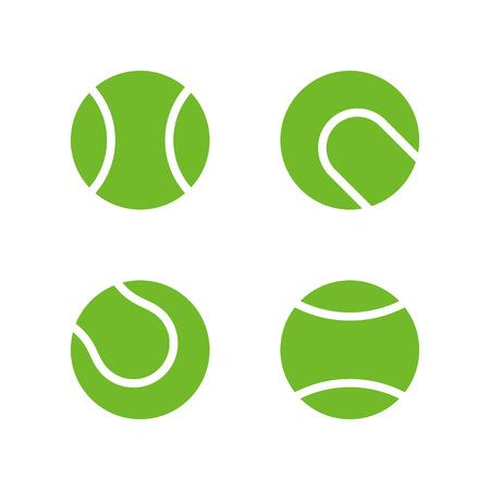 テニス ボール アイコンは、モダンなミニマルなフラット デザイン スタイル。ベクトル イラスト、アイコンを設定