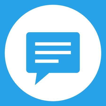 talk bubble: Speech bubble icon, modern minimal flat design style, vector illustration