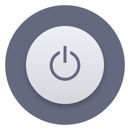 off button: Power button icon, vector illustration. OnOff switch, user interface